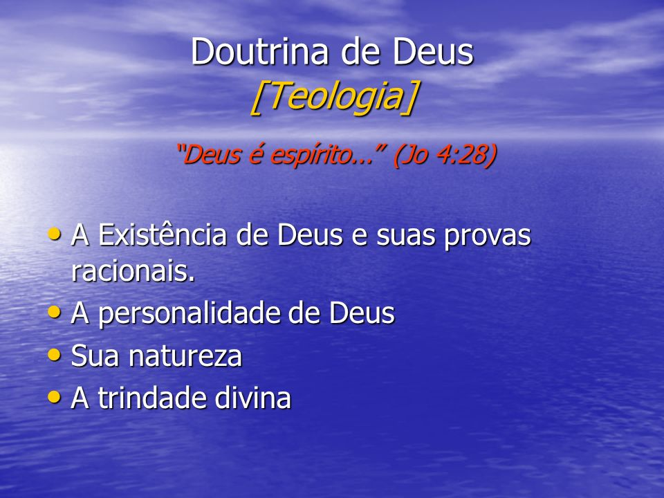 Doutrina de Deus [Teologia]